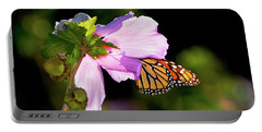 Butterfly Sunset Portable Battery Charger by Betty LaRue