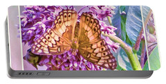 Portable Battery Charger featuring the photograph Butterfly Why by Shirley Moravec