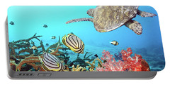 Butterflyfishes And Turtle Portable Battery Charger