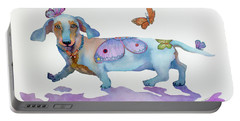 Butterfly Doxie Doo Portable Battery Charger by Marcia Baldwin