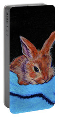 Butterscotch Bunny Portable Battery Charger by Susan Duda