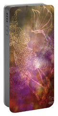 Buttetfly Blossoms Portable Battery Charger by Maria Urso