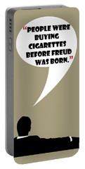 Buying Cigarettes - Mad Men Poster Don Draper Quote Portable Battery Charger