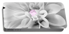 Bw Dahlia And Touch Of Pink Portable Battery Charger