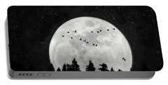By The Light Of The Silvery Moon - Birds  Portable Battery Charger