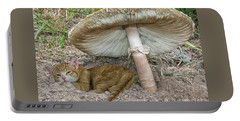 By The Shade Of The Old Mushroom Tree Portable Battery Charger