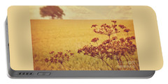 Portable Battery Charger featuring the photograph By The Side Of The Wheat Field by Lyn Randle