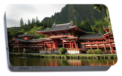Portable Battery Charger featuring the photograph Byodo-in Temple, Oahu, Hawaii by Mark Czerniec