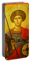 Byzantine Knight Portable Battery Charger by Ellen Henneke