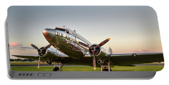 C-47 At Dusk Portable Battery Charger