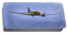 C-47 Gooney Bird At Salinas Portable Battery Charger