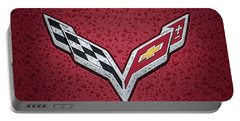 C7 Badge Red Portable Battery Charger