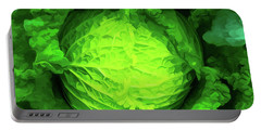 Cabbage 02 Portable Battery Charger by Wally Hampton