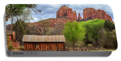 Portable Battery Charger featuring the photograph Cabin At Cathedral Rock by James Eddy