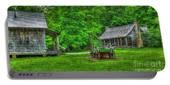 Portable Battery Charger featuring the photograph Cabin Fever Great Smoky Mountains Art by Reid Callaway
