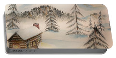 Cabin In The Rockies Portable Battery Charger