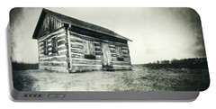 Portable Battery Charger featuring the photograph Cabin Near Paradise Springs - Kettle Moraine State Forest by Jennifer Rondinelli Reilly - Fine Art Photography