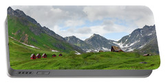 Cabins In The Alaskan Mountains Portable Battery Charger