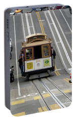 Portable Battery Charger featuring the photograph Cable Car by Steven Spak