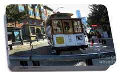 Portable Battery Charger featuring the photograph Cable Car Turnaround by Steven Spak
