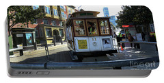 Cable Car Turnaround Portable Battery Charger by Steven Spak