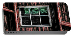 Portable Battery Charger featuring the photograph Caboose Window by Brad Allen Fine Art