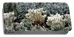 Cactus Field Portable Battery Charger by Rebecca Margraf