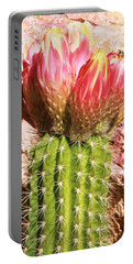 Cactus Flowe Bee Portable Battery Charger