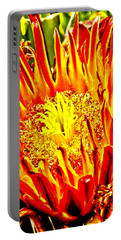 Cactus Flower Portable Battery Charger by Judi Saunders
