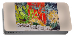 Cactus Garden  Portable Battery Charger by Fred Jinkins