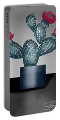 Cactus In Bloom II Portable Battery Charger