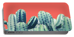 Cactus On Coral Portable Battery Charger