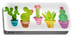Cactus Plants In Pretty Pots Portable Battery Charger