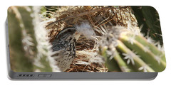 Cactus Wren Feather Portable Battery Charger
