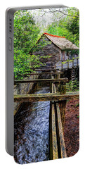 Cades Cove Grist Mill In The Great Smoky Mountains National Park  Portable Battery Charger