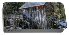 Cades Cove Grist Mill In Winter Portable Battery Charger