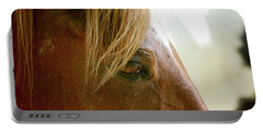 Portable Battery Charger featuring the photograph Cades Cove Horse 20160525_241 by Tina Hopkins