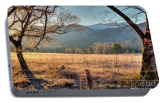 Portable Battery Charger featuring the photograph Cades Cove, Spring 2017 by Douglas Stucky