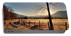 Portable Battery Charger featuring the photograph Cades Cove, Spring 2017,i by Douglas Stucky