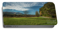 Cades Cove Tennessee Portable Battery Charger by Lena Auxier