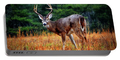 Cades Cove - The Buck Stopped Here 002 Portable Battery Charger by George Bostian