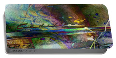 Portable Battery Charger featuring the digital art Cadillac Daze by Kiki Art