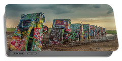 Cadillac Ranch Before The Rain Portable Battery Charger