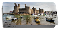 Caernarfon Castle, North Wales Portable Battery Charger by Shirley Mitchell