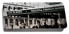 Cafe Du Monde Portable Battery Charger by Scott Pellegrin