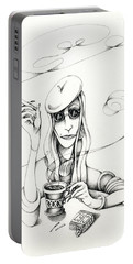 Cafe Lady Portable Battery Charger