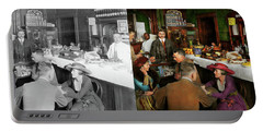 Cafe - Temptations 1915 - Side By Side Portable Battery Charger by Mike Savad