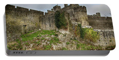 Portable Battery Charger featuring the photograph Cahir Castle by Marie Leslie
