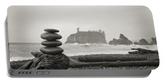 Cairn On A Beach Portable Battery Charger