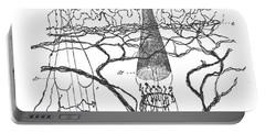 Cajal Illustration Rat Nerve Endings Portable Battery Charger
